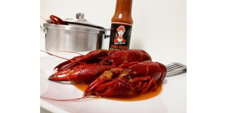 cangrejos de rio con salsa brava juanamadrid